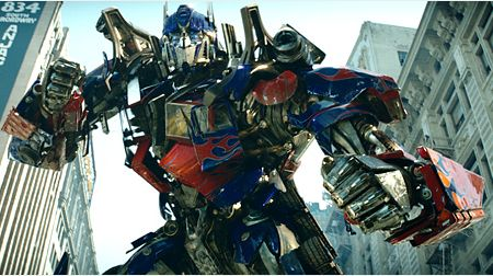 transformers optimus prime fighting stance