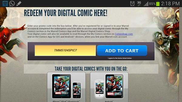 redeem marvel comics