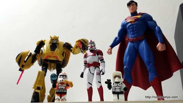Set of action figures from different niche