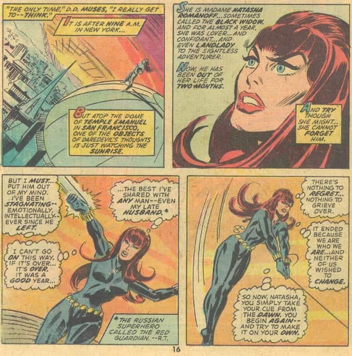 Black Widow in Daredevil 109